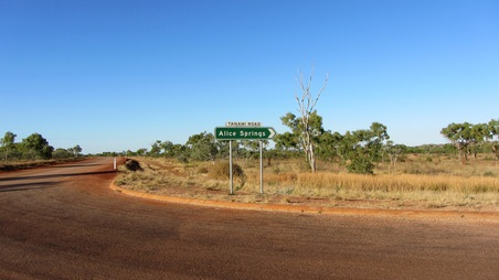 Tanami Road in Wolfe Creek National Park